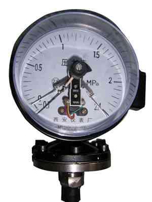 耐腐隔膜电接点压力表